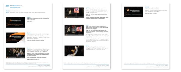 Web Video storyboard