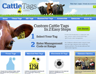 Cattle Tags web design