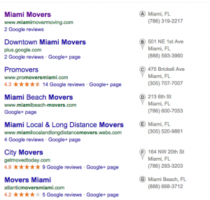 Google Local Search 7-Pack