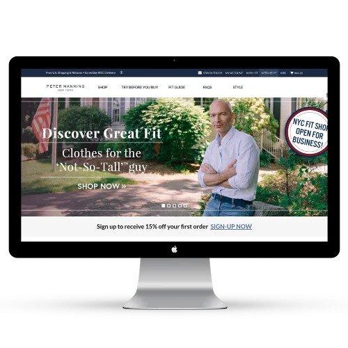 d2c Agency. Client, Peter Manning Website