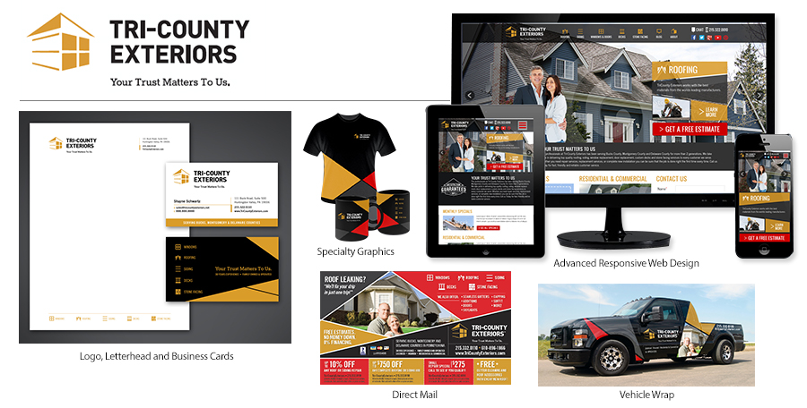 Tri County Exteriors Brand Identity