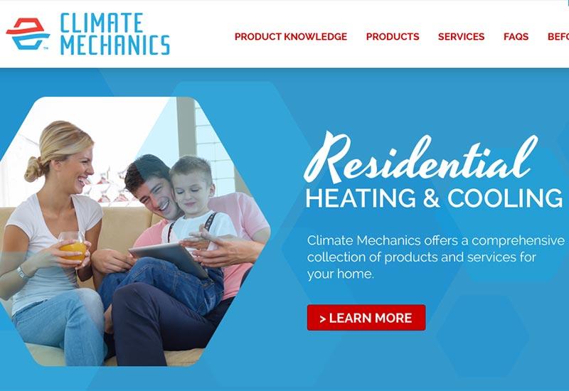 Climate Mechanics Website Design
