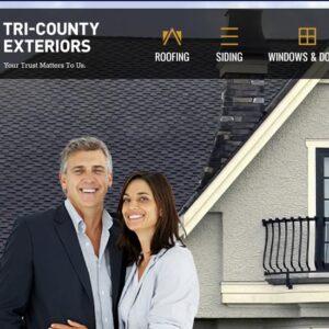 Tri County Exteriors Website Design