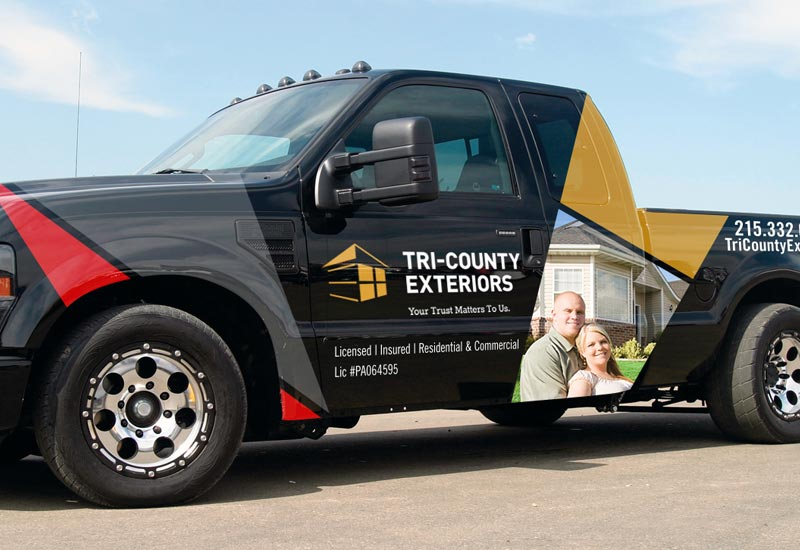 Tri-County Exteriors Truck Wrap