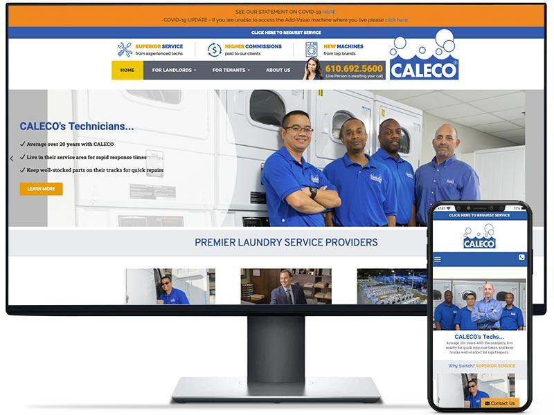 Caleco web design