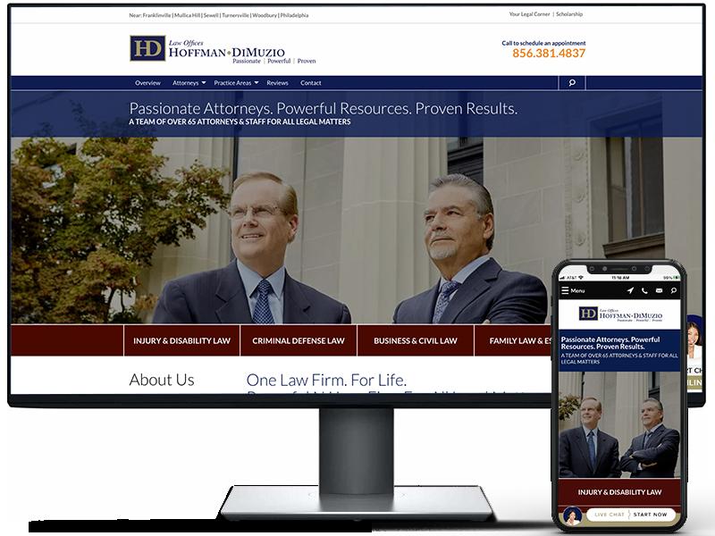 Hoffman DiMuzio website design